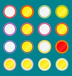 ribbon award color set vector image