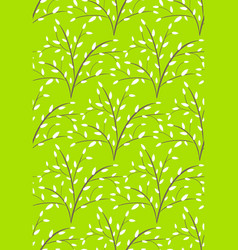Seamless bright fun abstract spring summer trees vector