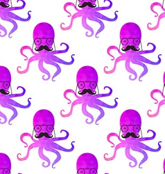 seamless pattern with octopus Colorful mosaic vector image vector image