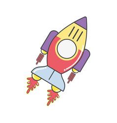 space rocket galaxy sky travel vector image vector image
