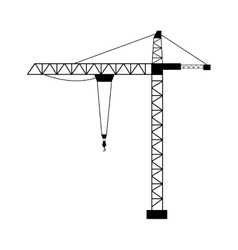 Tower crane isolated flat design vector