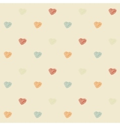 Vintage scribble heart vector image