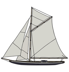 Vintage yacht vector