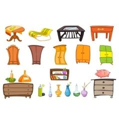 set of furniture vector image