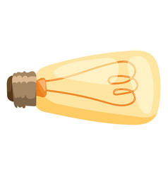 yellow light bulb isolated vector image