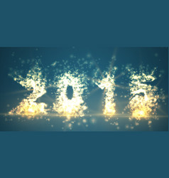 New year 2015 abstract mesh vector