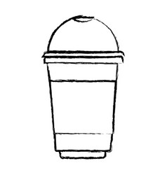 Glass disposable for hot drinks monochrome blurred vector