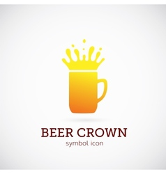 Beer crown concept symbol icon or logo template vector
