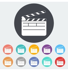 Director clapperboard icon vector