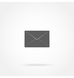 Closed envelope icon vector