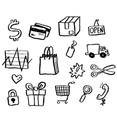 Doodle series - shopping vector