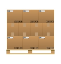 closed brown carton delivery boxes vector image