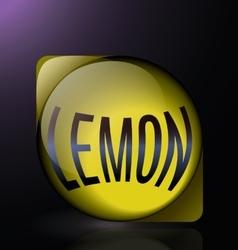 Lemon glass reflection blue text logo vector