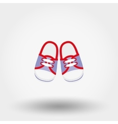 Baby booties sneakers vector
