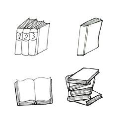 book doodles set vector image vector image