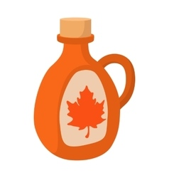 Bottle of maple syrup icon cartoon style vector