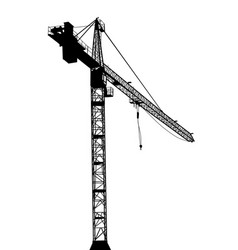 building crane on white background vector image vector image