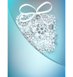 Christmas gift box made from snowflakes EPS10 vector image