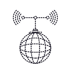 cloud service and transmission antenna icon in vector image