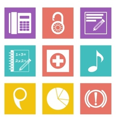 Color icons for web design set 36 vector