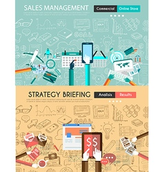 Design Concepts for business solution and sales vector image
