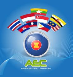 Flag of Asean Economic Community AEC 02 vector image