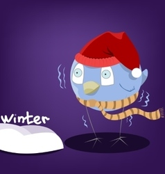 funny character bird vector image