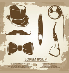 getlemen style objects - cylinder bow tie vector image vector image