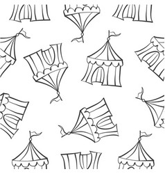 Hand draw tent circus doodles vector