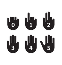 hands count gesture finger and number vector image
