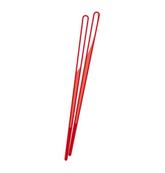 Japanese chopstick wooden utensil food cook shadow vector