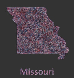 Missouri line art map vector