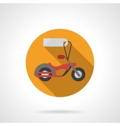 Motorbike for sale round flat color icon vector image vector image