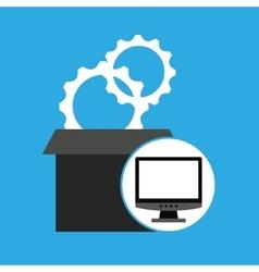 Programming coding computer gears vector