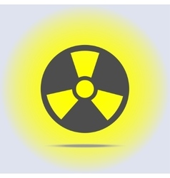 Radioactive icon in gray colors vector image vector image