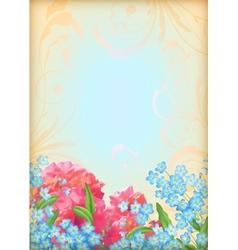 Romantic floral invitation design vector