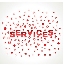 Services word with in alphabets vector image vector image
