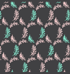 Spring leaf seamless pattern vector
