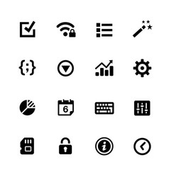 System settings icons vector