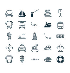 Transportation icons set collection of safety vector