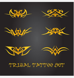 Tribal design elements and tattoo ornaments set vector