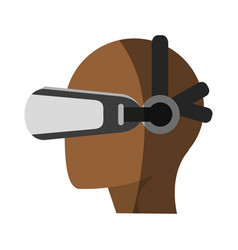 Virtual reality gadget icon image vector