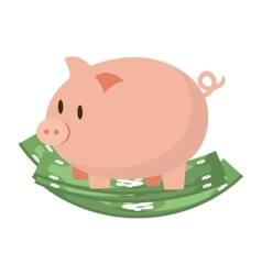 Piggy money financial item design vector