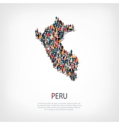 People map country peru vector