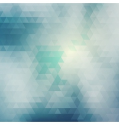 Blue abstract card geometric background vector