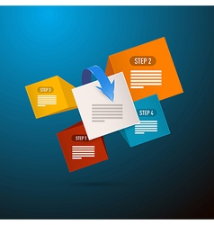 Infographics blue background with five elements vector