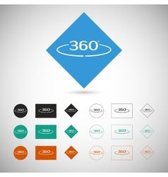 Angle 360 degrees sign vector image