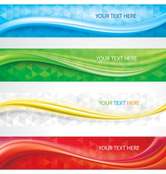 Banners background set vector