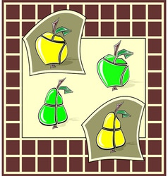 Apples and pears vector