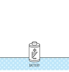 Battery icon electrical power sign vector